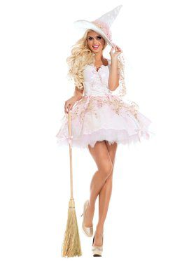 White Magic Witch Adult Costume