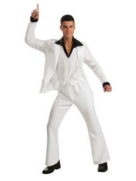 Saturday Night Fever White Suit Costume for Adult