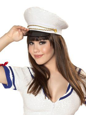 Adult Sequin Sailor Hat