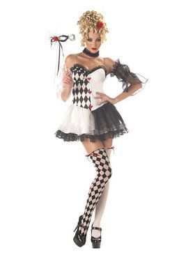 Adult Sexy Le Belle Harlequin Clown Costume