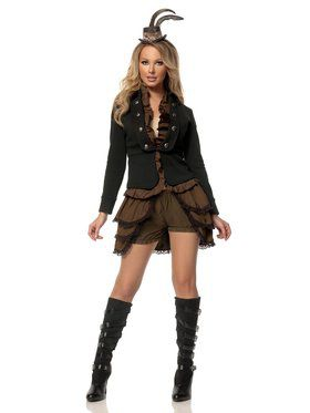 Adult Sexy Steampunk Lady Deluxe Costume