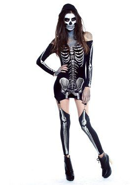 Adult Sexy X-Rayed Skeleton Costume