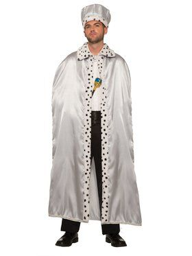 Adult Silver Royal Cape