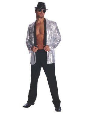 Silver Sequin Jacket for Adult