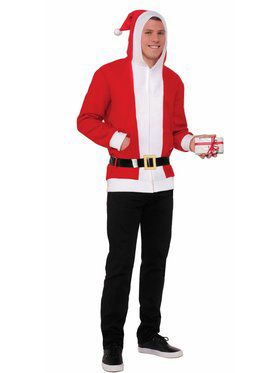 Adult Classic Simply Santa Hoodie With Belt