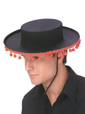 Adult Spanish Hat with Pompoms