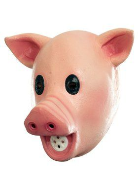 Squeaky Pig Adult Mask