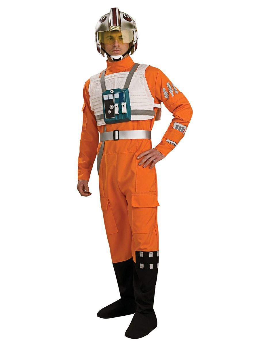 LICENSED GRAND HERITAGE ADULT MENS X-WING FIGHTER STAR WARS HALLOWEEN COSTUME