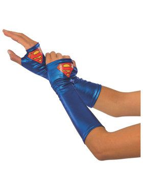 Supergirl Gauntlets for Adults