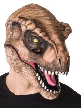 Adult T-Rex 3/4 Jurassic Park Face Mask