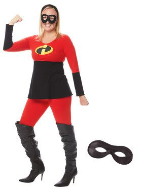 Adult The Incredibles Mrs. Incredible Tunic and Leggings Costume Kit