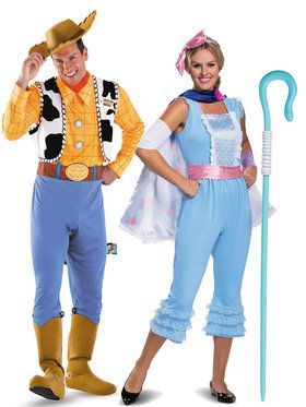 Adult Toy Story Woody and Bo Peep Couple Costume