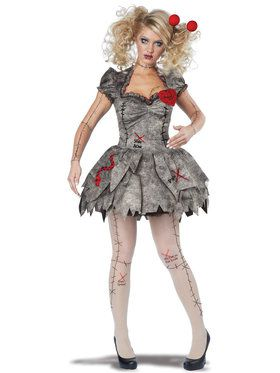 Adult Voodoo Dolly Costume For Adults