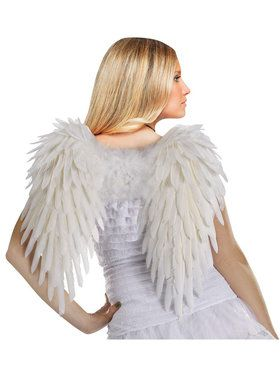 Adult (White) Feather Angel Wings For Adults