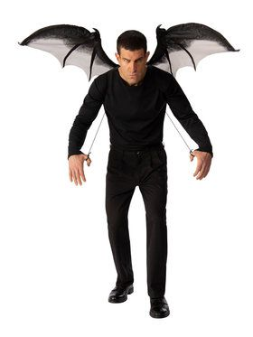 Gray Devil Wings for Adults