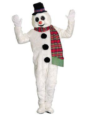 Adult Winter Willie Snowman Mascot Costume