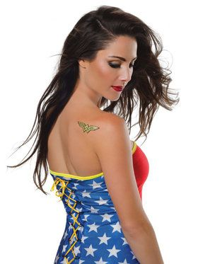 Adult Wonder Woman Glitter Tattoo