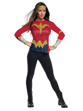 Adult Wonder Woman Justice League Costume Top