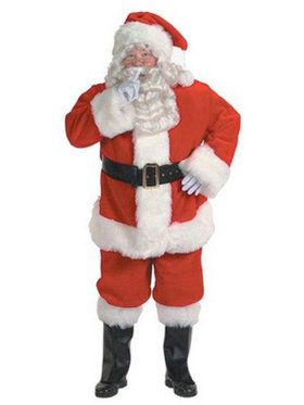 Adult X-large Professional Quality Santa Suit