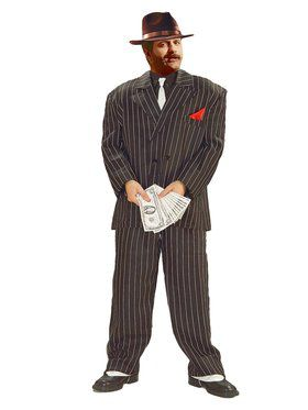 Mens XL Chicago Mobster Costume