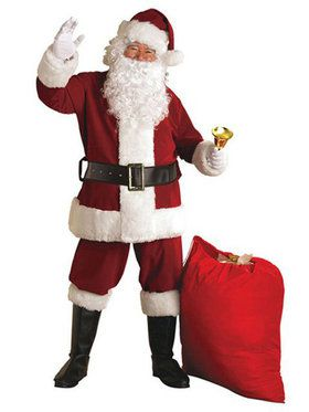 Xxl Crimson Regal Plush Santa Suit