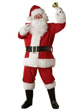 Adult Xxlarge Regal Plush Santa Suit Costume