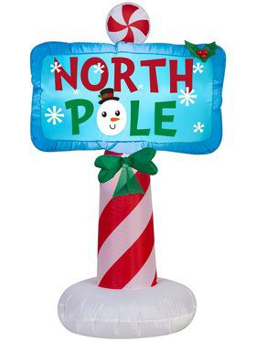 Airblown 3.5 Ft Outdoor North Pole Sign