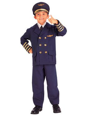 Airline Pilot Child Costume