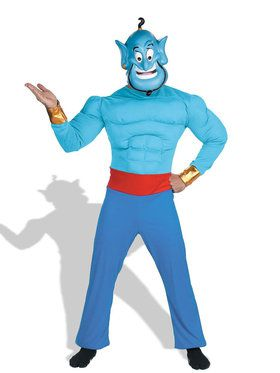 Aladdin Disney Genie Muscle Costume For Adults