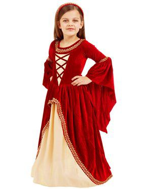 Alessandra The Crimson Princess Girl's Costume