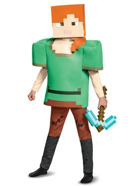 Alex Deluxe Minecraft Costume For Children