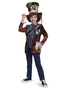 adf47ee99bf6d Alice Through the Looking Glass - Mad Hatter Classic Kids Costume