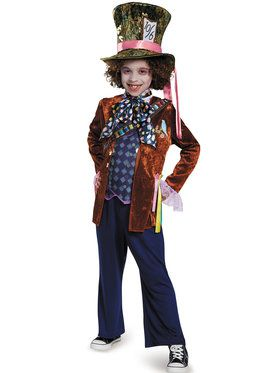 Alice Through the Looking Glass - Mad Hatter Deluxe Boys Costume