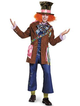 Alice Through The Looking Glass Mad Hatter Prestige Adult Costume