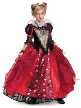 Deluxe Child Red Queen Costume - Alice Through the Looking Glass