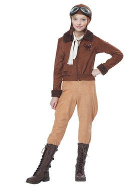 Amelia Earhart Girls Costume