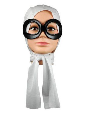 Amelia Earhart Scarf and Goggle Set