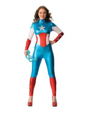 Womens American Dream Bodysuit Costume