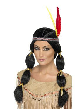 American Indian Black Adult Wig