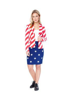 American Woman Womens Opposuit for Halloween