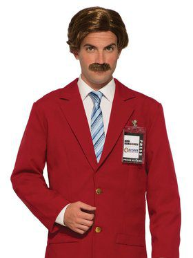 Anchorman Moustache and Wig