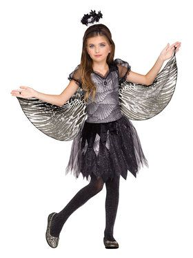 Girls Angel of the Night Costume