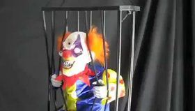 "Animated 10.5"" Caged Clown Prop"