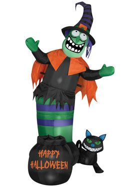 Animated Airblown Wobbling Witch