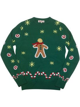 Animated Gingerbread Snack Ugly Adult Christmas Sweater