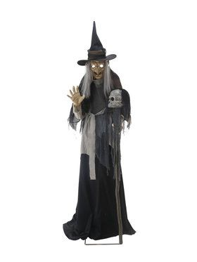 Animated Lunging Haggard Witch Prop