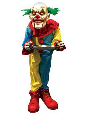 Scary Clown Butler Animated Prop
