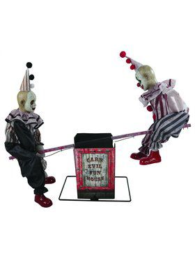 Animated Seesaw Clowns Decoration