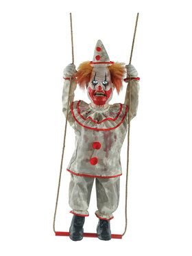 Animated Swinging Happy Clown Doll Prop