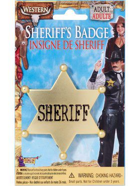 Antique Gold Star Shaped Sheriff Badge